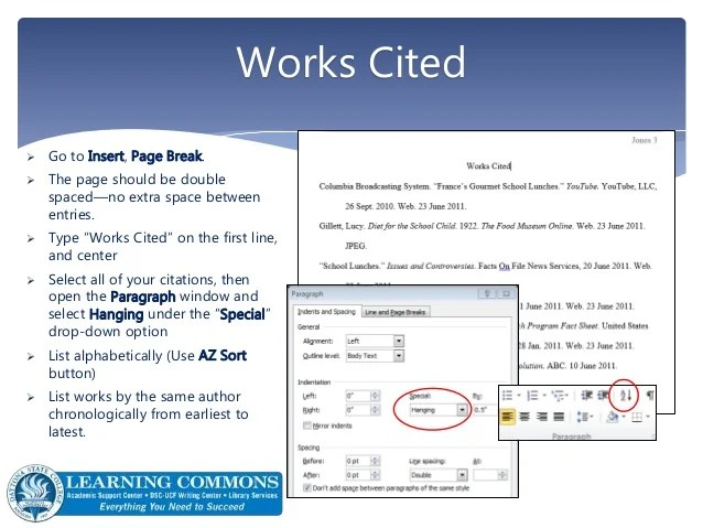 works cited spacing - Hizlirapidlaunch - work cited layout