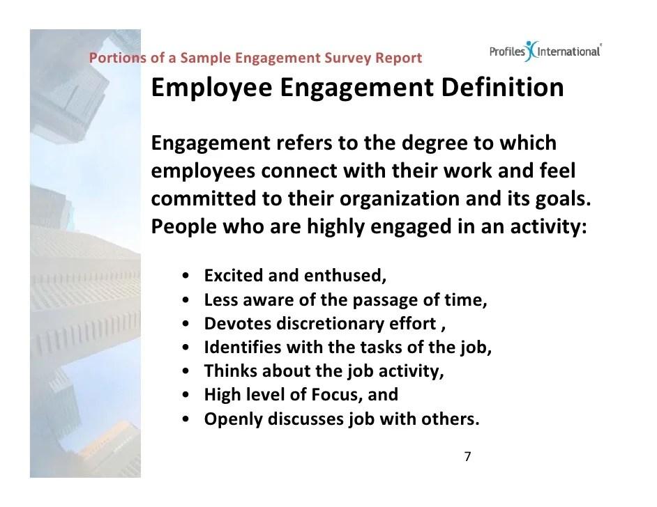 Sample Employee Engagement Survey   Getletter Sample Resume