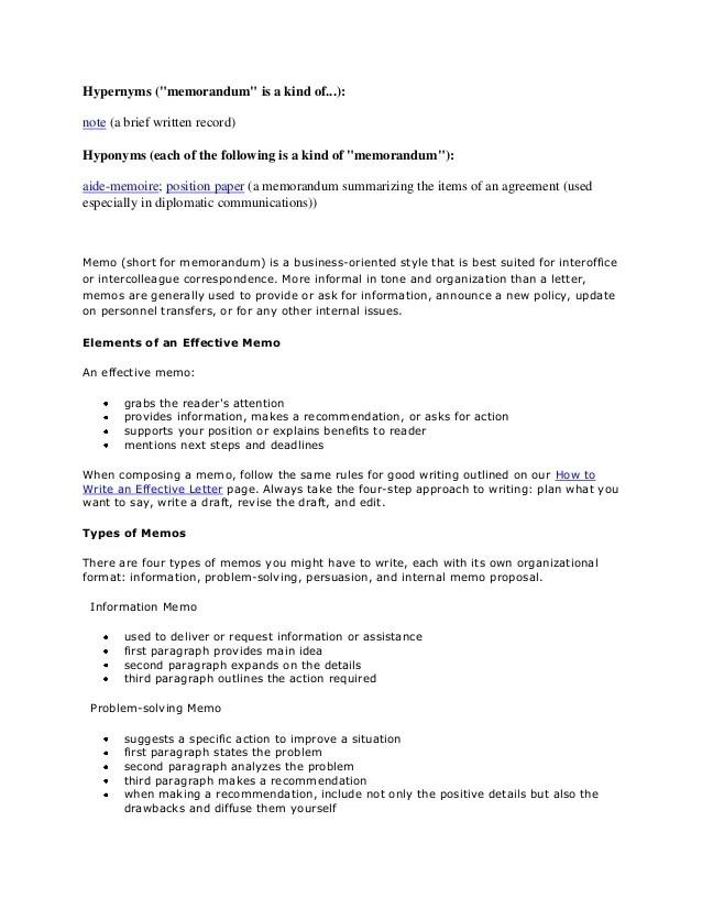 information memorandum contents