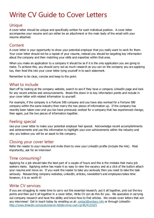 how to put together a cover letter