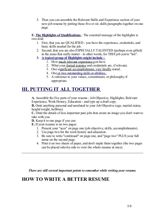 how to put a resume together - Blackdgfitness - what to put in skills section of resume