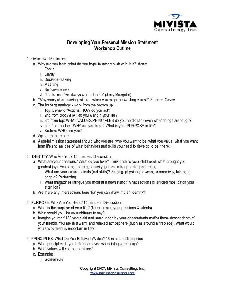 creating a personal mission statement - Acurlunamedia
