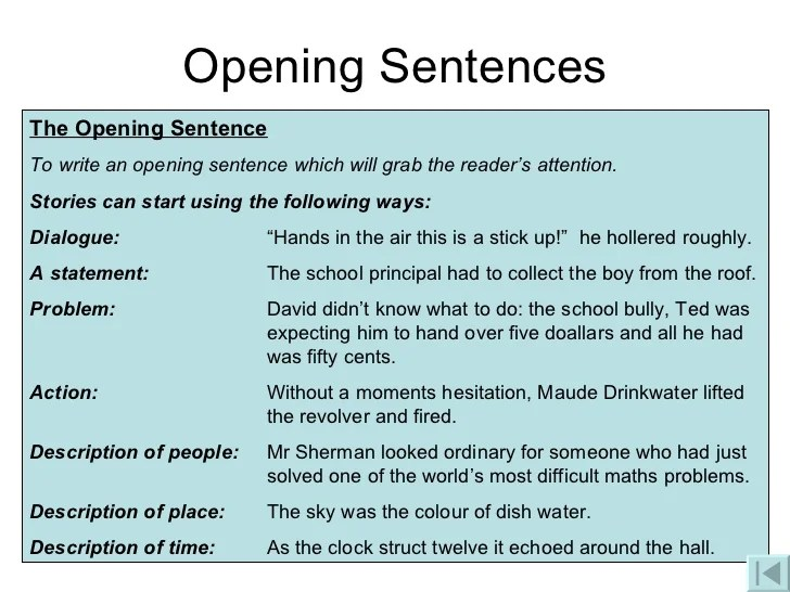 introduction sentences for essays