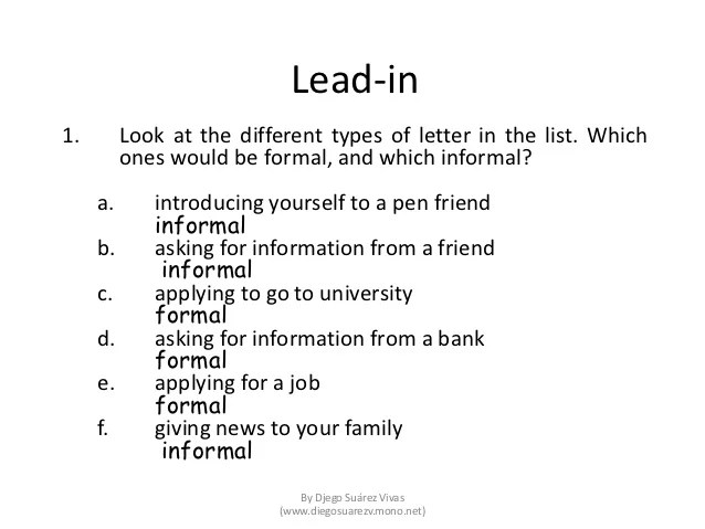 Introduction Letter Samples Writing Help Central Writing A Formal Letter Of Application Job Paper 2 Part 2