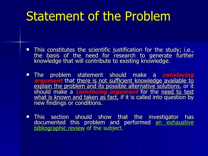 research proposal problem statement examples - Selol-ink - problem statement example