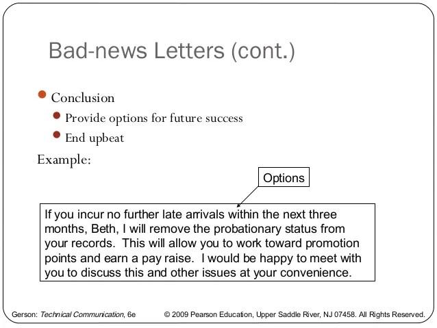Inter office communication letter