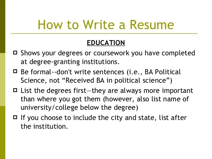 how to include current unfinished degree on cv