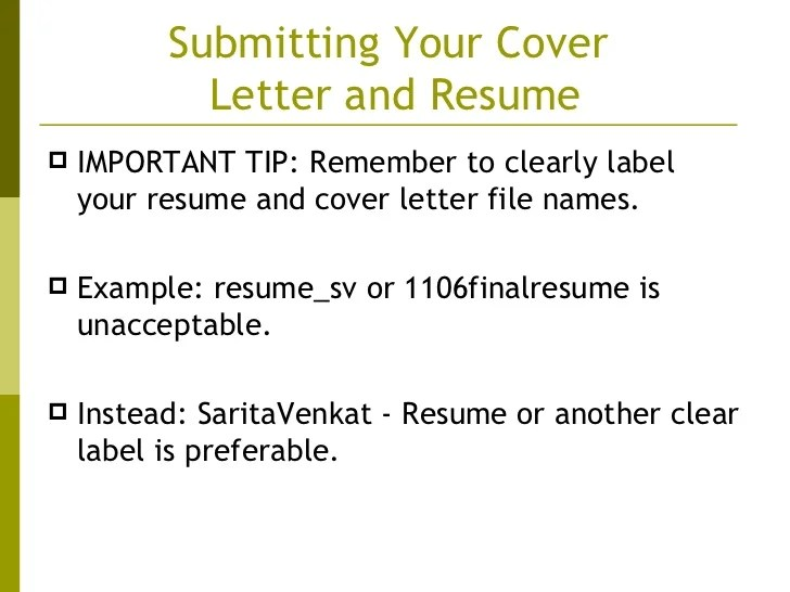 resume label example - Selol-ink