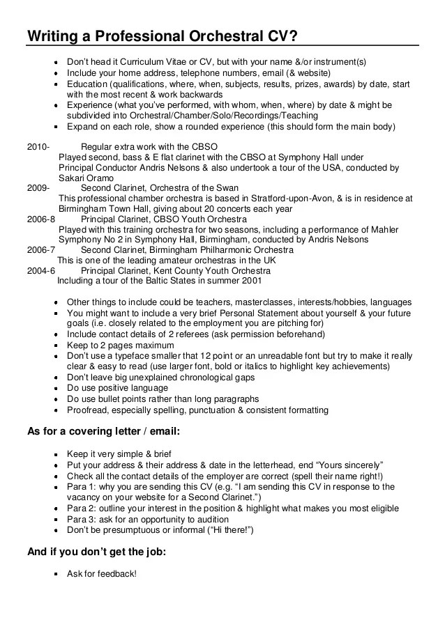 how to write a performance resume - Canasbergdorfbib