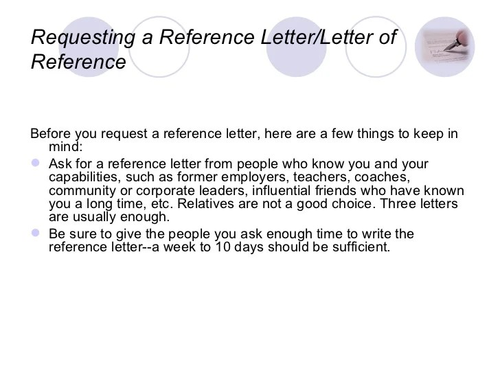 Reference Letter Samples From A Previous Employer Writing A Reference Letter