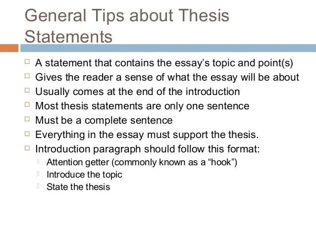 examples of thesis statements for persuasive essays