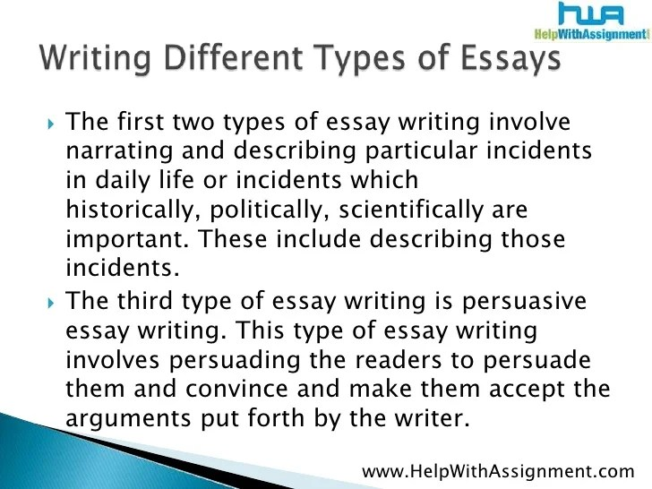 kind of essays types of essays and examples types of essay essay