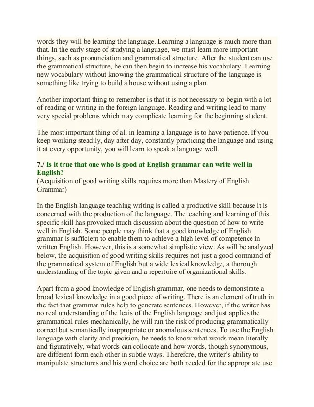 Essay On Technical English