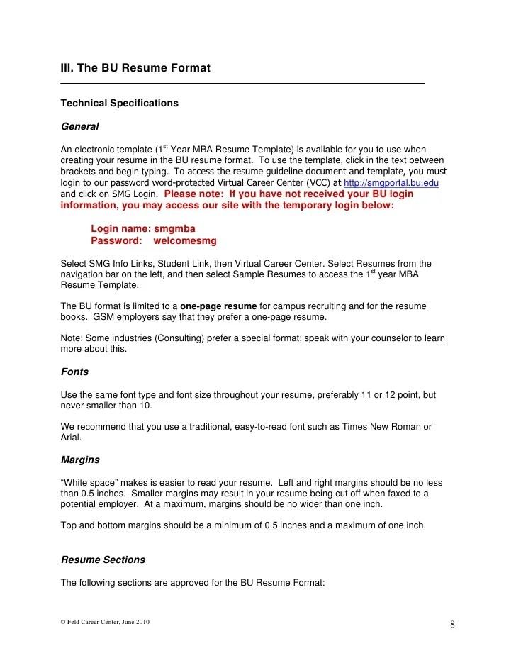 sample resume word 2010