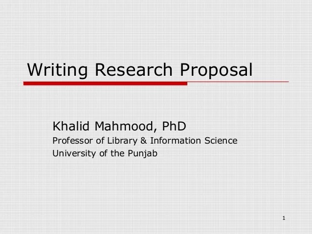 Research Proposal Essay