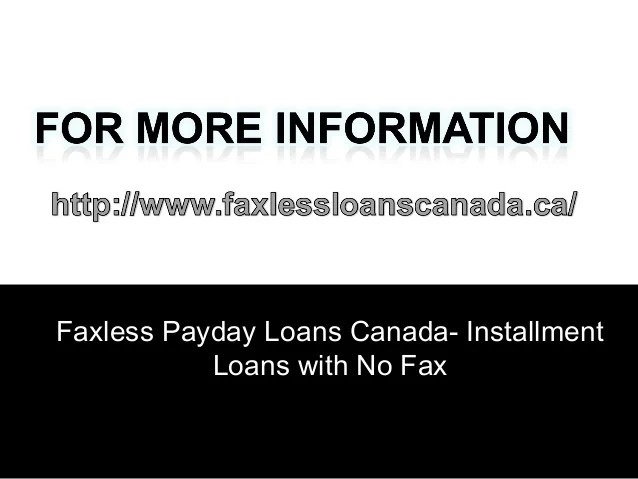 Faxless Payday Loans Canada Dealing With Financial Crisis
