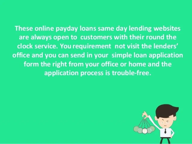 Online Payday Loans Same Day - Get Up To $1000 With 100% ...