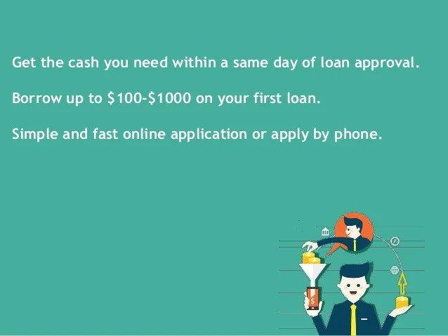 Online Payday Loans Same Day - Get Up To $1000 With 100% Guaranteed A…