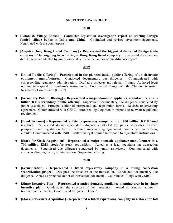 resume deal