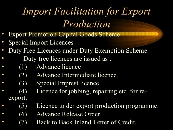 Contact Us Inland Revenue Export Import Policy