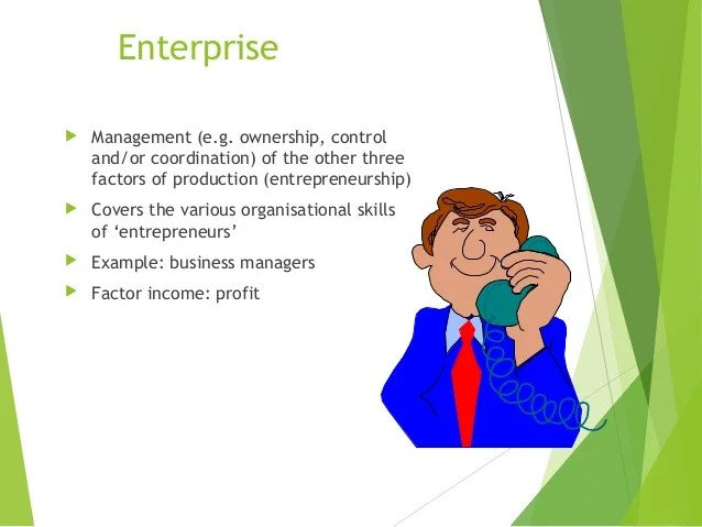 Enterprise as an FOP YOUR GUIDE TO ECONOMICS - entrepreneur examples