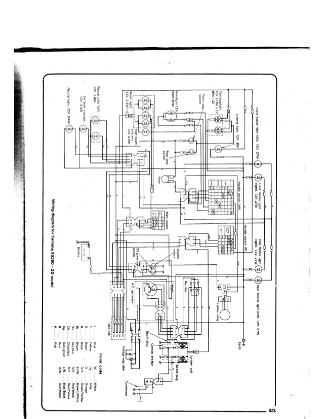 1981 Yamaha Xs400 Wiring Diagram Wiring Schematic Diagram