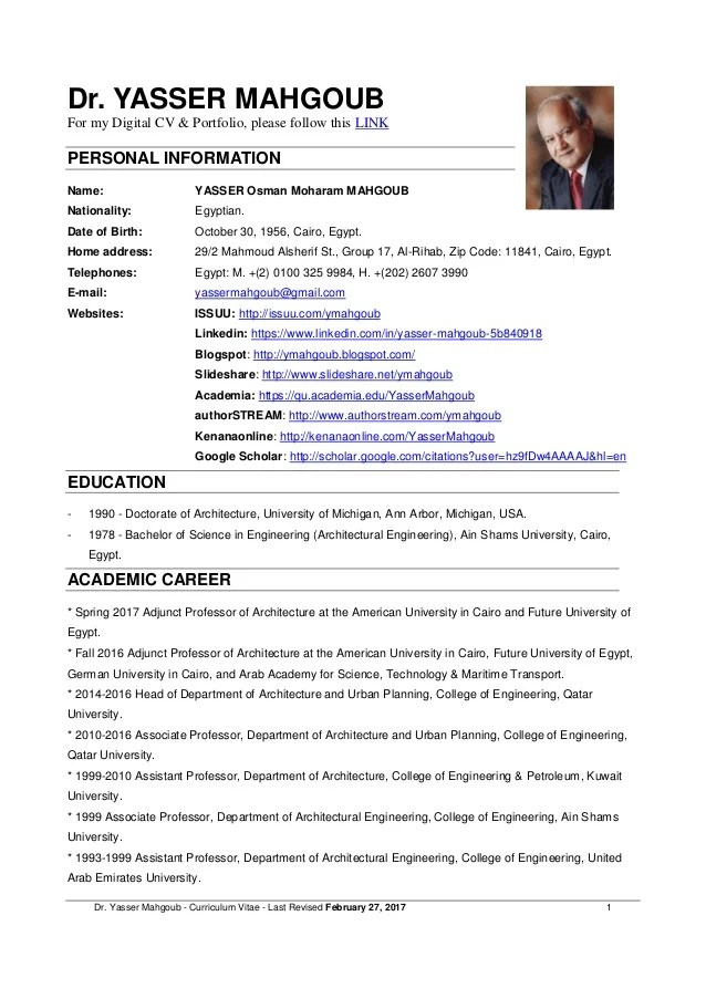 resume for college professor