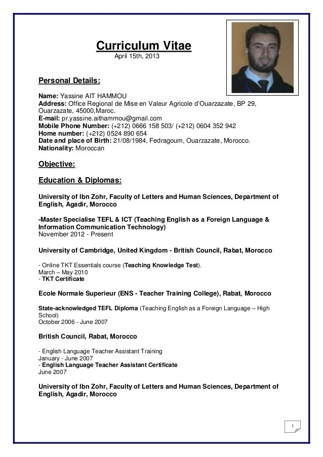 resume example with skills language