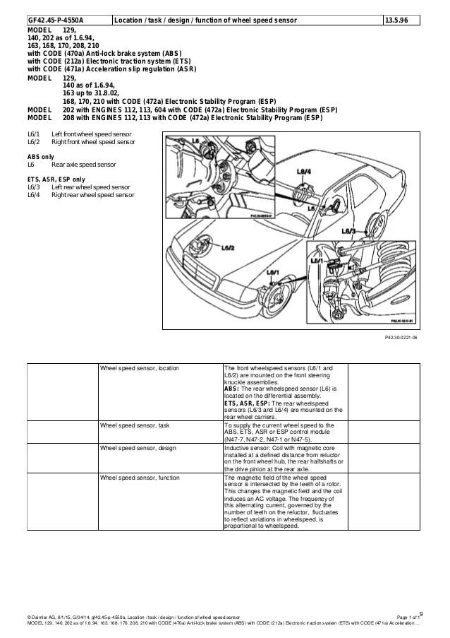 mercedes benz a 170 wiring diagram