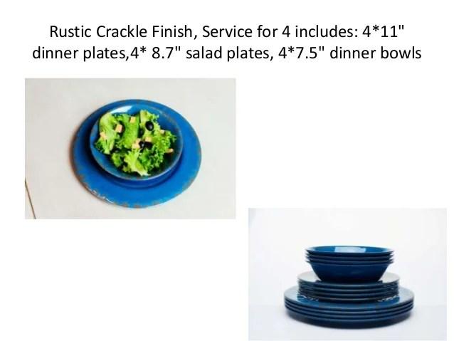 Yinshine 12pcs Rustic Melamine Dinnerware Set. SaveEnlarge  sc 1 st  Castrophotos & Rustic Melamine Dinner Plates - Castrophotos