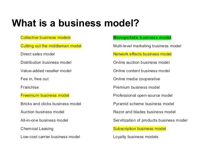 Yi Boot Camp Business Models Presentation