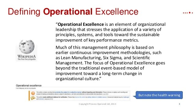 Pe Folie Gamma You Say Process Excellence, She Says Operational