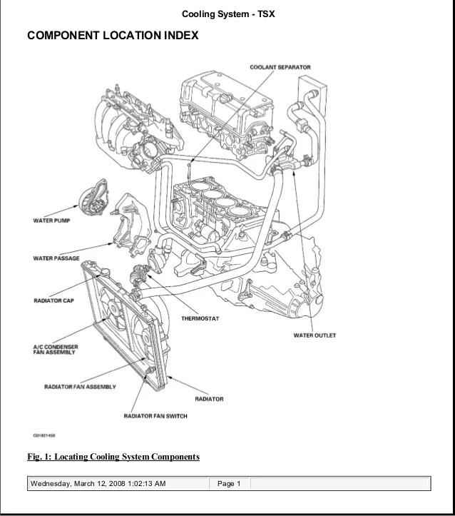 acura tsx 2004 engine diagram