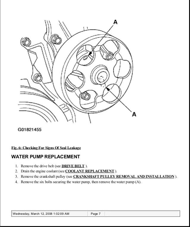 acura tsx drive belt replacement