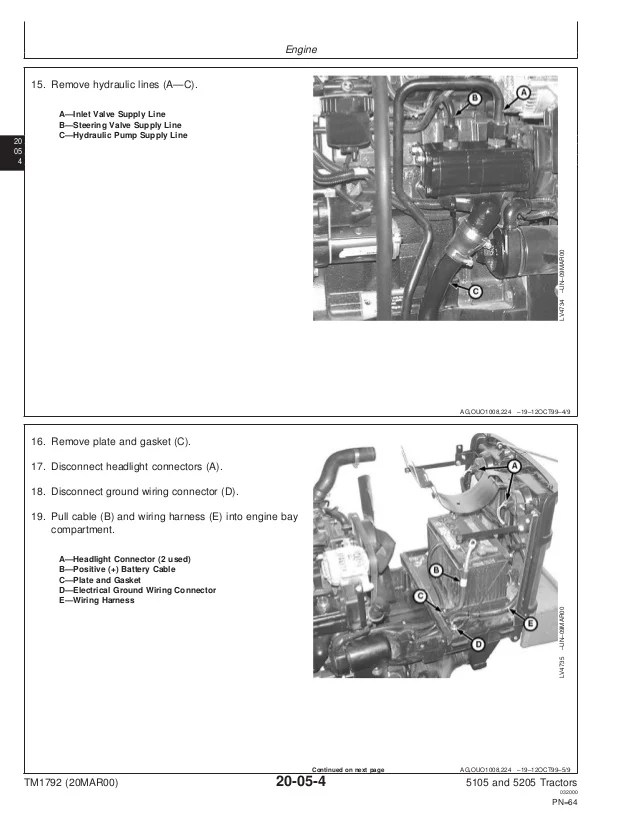 john deere 5105 electrical diagram