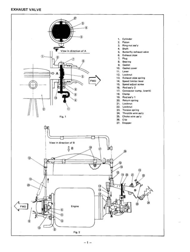 yamaha gas golf cart engine diagram