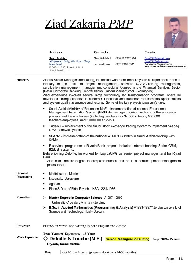 deloitte consulting resume example