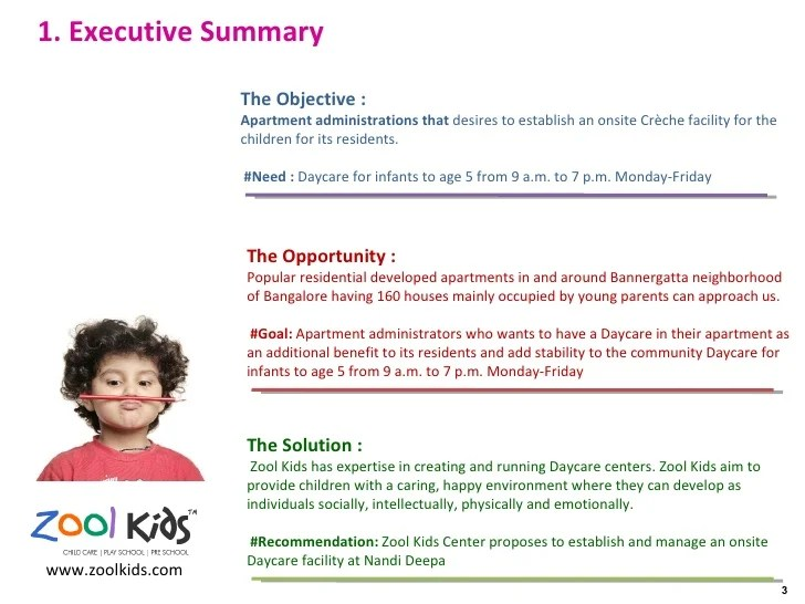 Sample Of Business Plan For Child Care Center - Daycare center business plan template