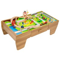 80 Piece Wooden Train Set with Table - Gift Finder 3-5 ...