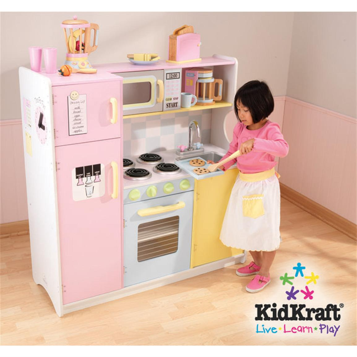 Cuisinette Pas Cher Kidkraft Pastel Play Kitchen Set - 146111, Toys At