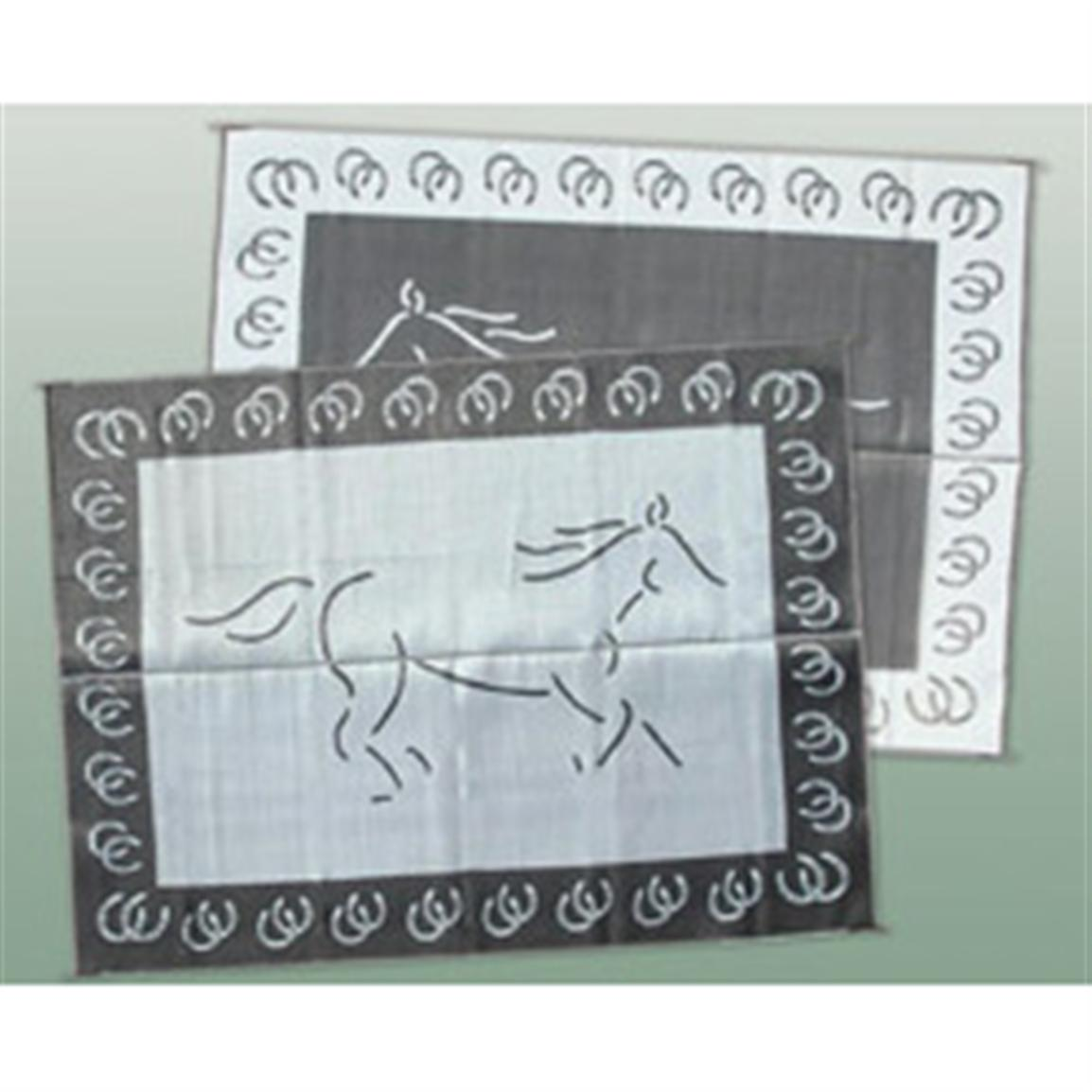 Patio Mats 9x12' Reversible Mat, Horse Design