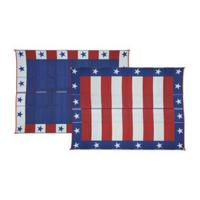 Patio Mats 9x12' Reversible Mat, Patriotic Design