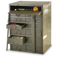 Used U.S. Military Metal Storage Cabinet