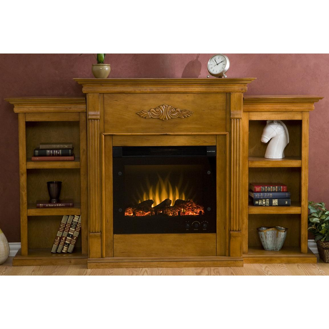 Tennyson Bookcase Electric Fireplace Southern Enterprises Inc Tennyson Electric Fireplace With