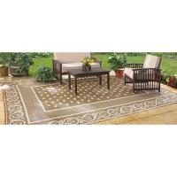 Guide Gear Reversible 9' x 12' Outdoor Rug, Scroll Pattern