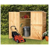 Solid Wood Outdoor Storage Shed - 236390, Patio Storage at ...