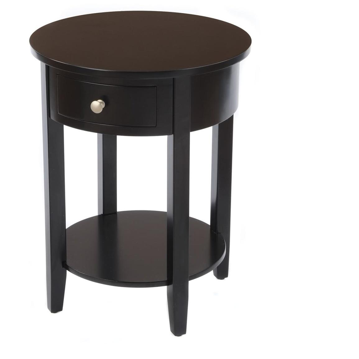 Circular End Tables Round Side Table With Drawer 236468 Living Room At