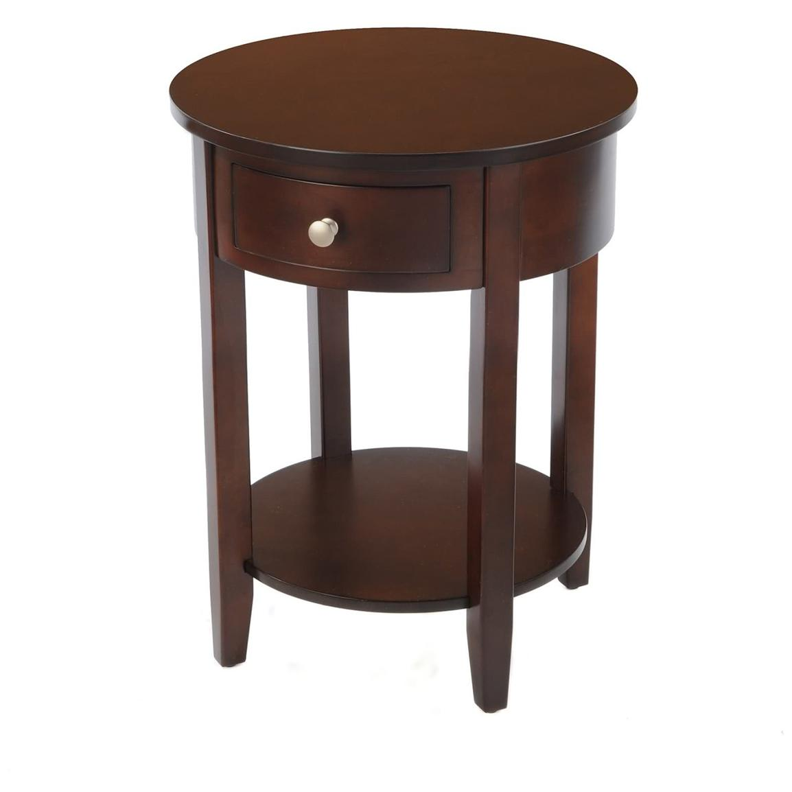 Circular End Tables Round Side Table With Drawer 236468 Living Room