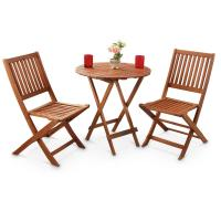 3 - Pc. Outdoor Folding Table and Chairs Set - 283209 ...