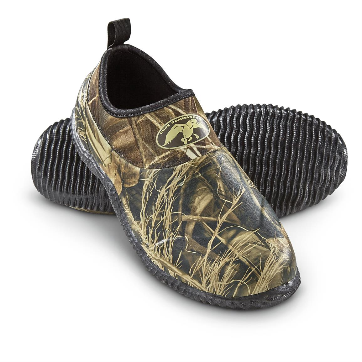 Rubber Mand Duck Commander Men S Mon Roe Slip On Rubber Shoes Realtree Max 4